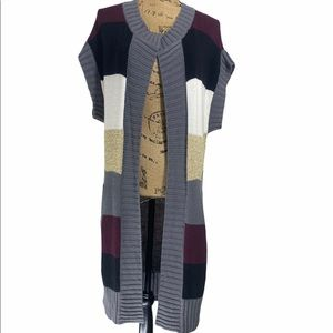 7 For All Mankind Long Striped Sweater Vest